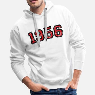 Vintage 1956 Vintage 1956 64th Birthday (Antique Red) - Men's Premium Hoodie