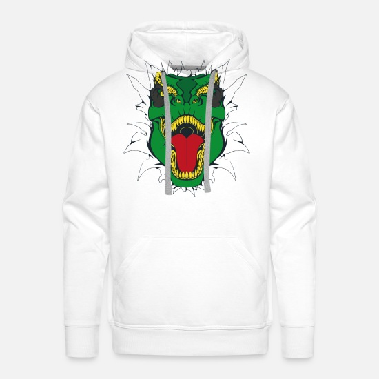 There Hoodies & Sweatshirts - Tyrannosaurus Kids - Men's Premium Hoodie white