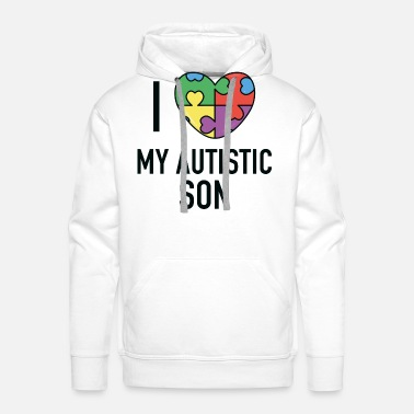 Spectrum I Love My Autistic Son - Men's Premium Hoodie