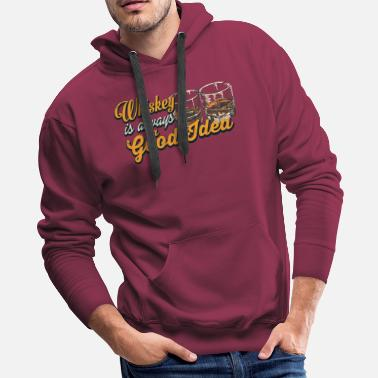 Fireball Whiskey Whiskey – Whiskey is always a good idea - Men's Premium Hoodie