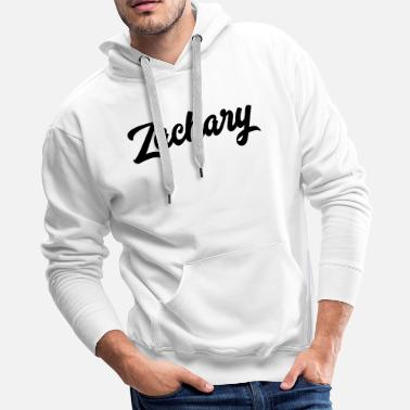 Names Zachary Custom Text Birthday Name - Men's Premium Hoodie