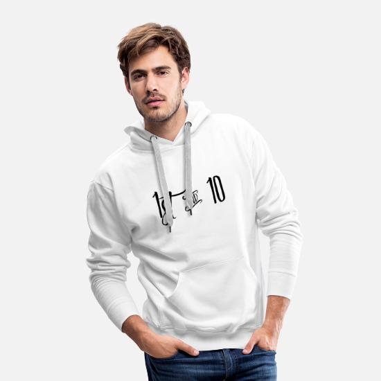 American Football Hoodies & Sweatshirts - 1st & 10 Football - Men's Premium Hoodie white