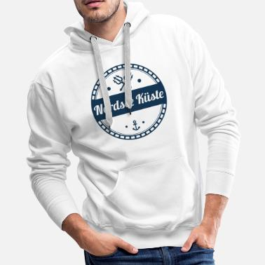 North Sea north sea coast,coast,sea,baltic,north - Men's Premium Hoodie