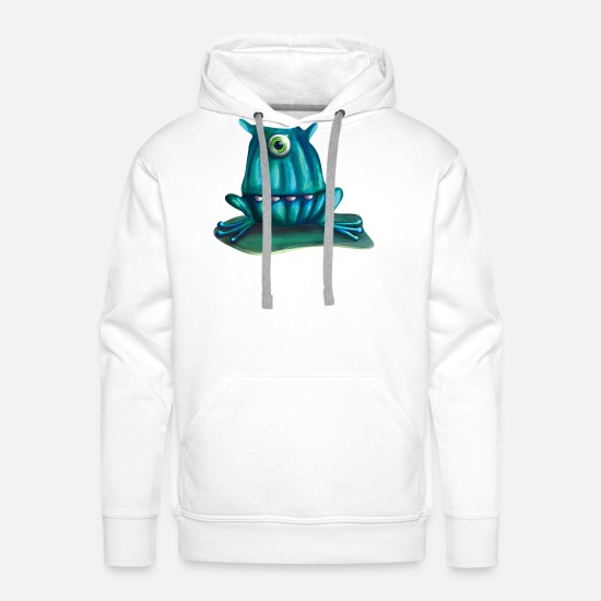 Fiction Hoodies & Sweatshirts - Frog - Men's Premium Hoodie white