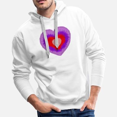 fluffy multi-colored heart - Men's Premium Hoodie
