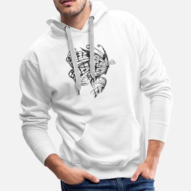 BUTTERLFY MUSIC NOTES - Men's Premium Hoodie