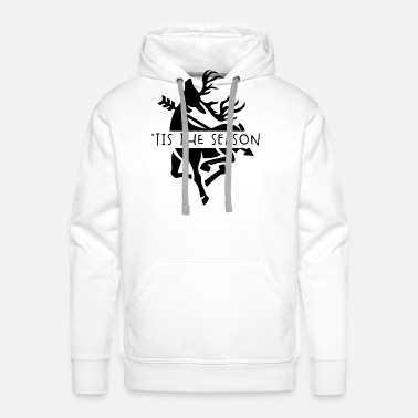 Moose Bow Hunting Gear Vintage Tis The Season Deer - Men's Premium Hoodie