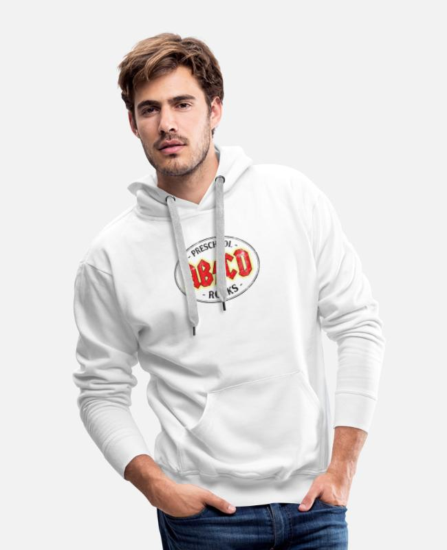 Teachers Rock Hoodies & Sweatshirts - Vintage Preschool Rocks - Men's Premium Hoodie white