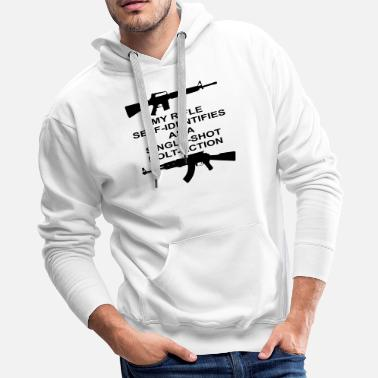 Bolt-action Rifles My Rifle Self Identifies As A Single Shot Bolt Act - Men's Premium Hoodie