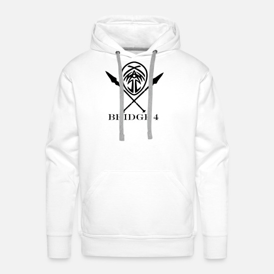 Bridge Hoodies & Sweatshirts - Bridge 4 with Spears - Men's Premium Hoodie white