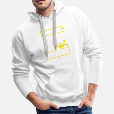 Model The Best Cars Don't Need Fuel Electric Vehicle - Men's Premium Hoodie
