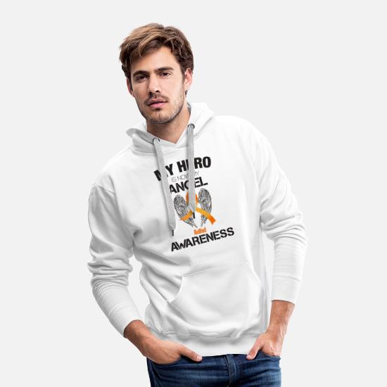 Angel Hoodies & Sweatshirts - My Hero Is Now My Angel Adhd Awareness - Men's Premium Hoodie white