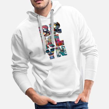 Bomber BROOKLYN GRAFFITI - Men's Premium Hoodie