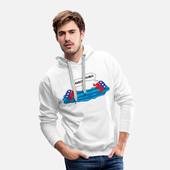 Awesome Hoodies & Sweatshirts - Marco Rubio Marco Polo - Men's Premium Hoodie white