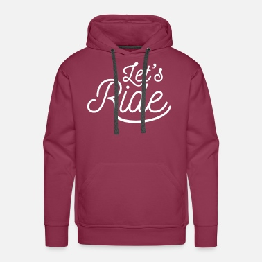 Exit lets Ride white - Men's Premium Hoodie