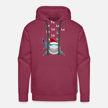 Yourself Shark Christmas Fa La La La Shirt Funny Holiday - Men's Premium Hoodie