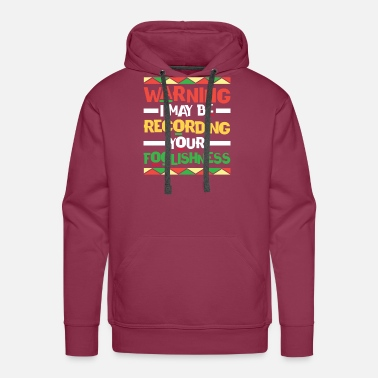 Natural Hair Recording Your Racism - Men's Premium Hoodie