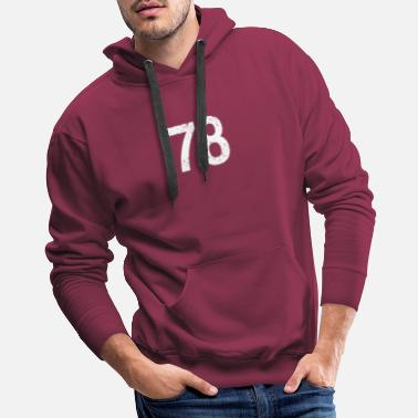 Player Number 78 Number Team Player Football Soccer Basketball - Men's Premium Hoodie