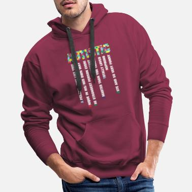 Personal Trainer AUTISTIC The Strongest Person Ever - Men's Premium Hoodie