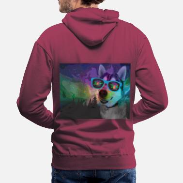 Lights Northern Lights Husky - Men's Premium Hoodie