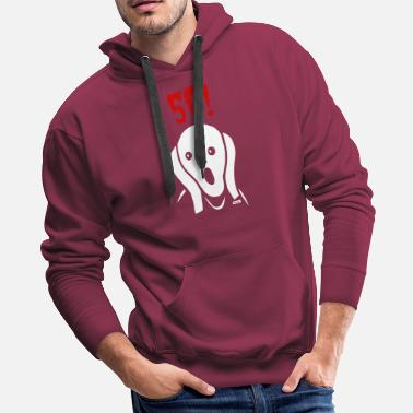 Round Birthday Scream 50 Birthday HARIZ Gift Round - Men's Premium Hoodie