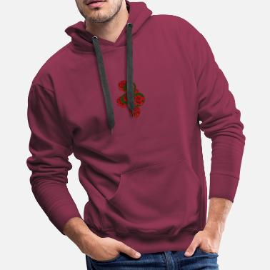 Rose snake with roses - Men's Premium Hoodie