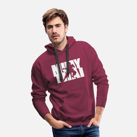 Muay Thai Hoodies & Sweatshirts - MUAY THAI - Men's Premium Hoodie burgundy