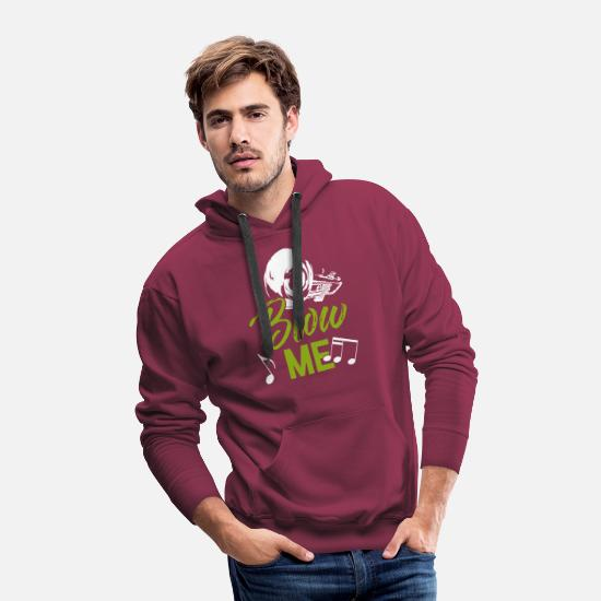 Love Hoodies & Sweatshirts - trumpet - Men's Premium Hoodie burgundy