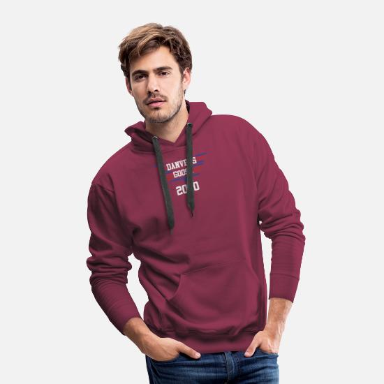 Captain Hoodies & Sweatshirts - Captain Marvel - Men's Premium Hoodie burgundy