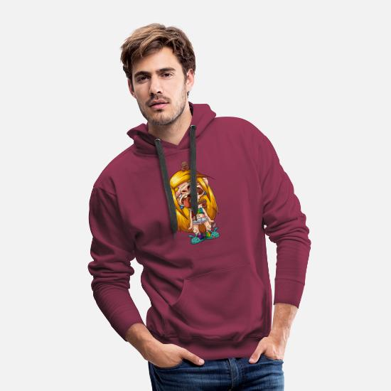 Tired Hoodies & Sweatshirts - tired - Men's Premium Hoodie burgundy