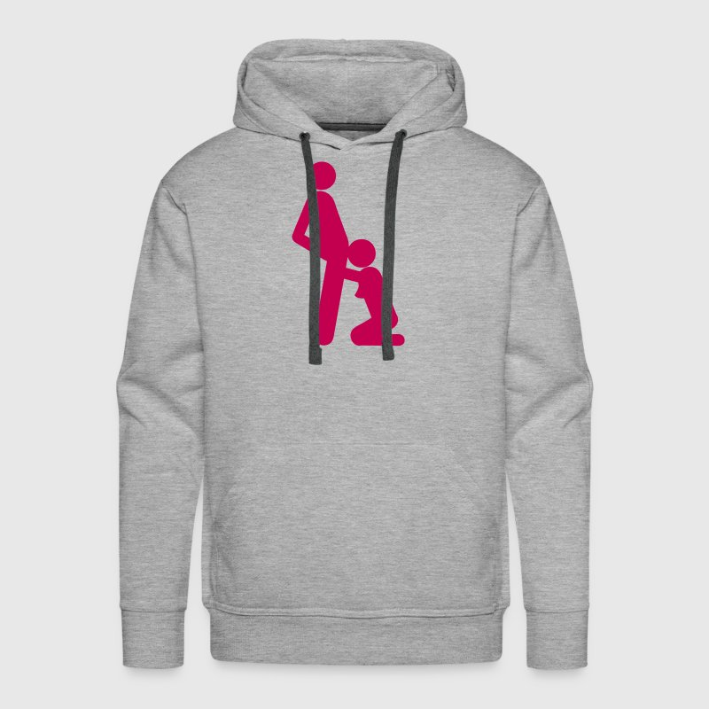 icon blowjob sex position - Men's Premium Hoodie