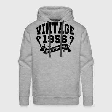 Vintage 1956 Aged To Perfection - Men's Premium Hoodie