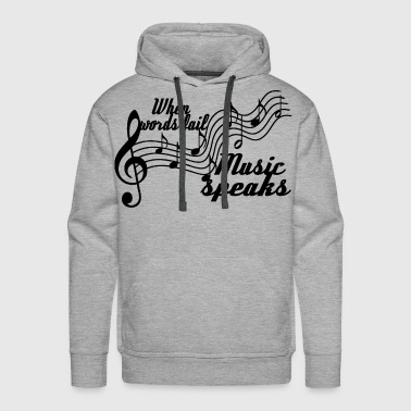 Alternative When words fail... - Men's Premium Hoodie