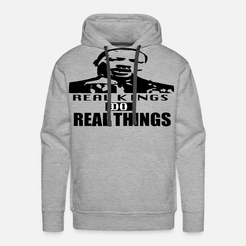 King Hoodies & Sweatshirts - DR.KING - Men's Premium Hoodie heather gray