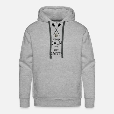Hits Keep calm and play Darts - Men's Premium Hoodie