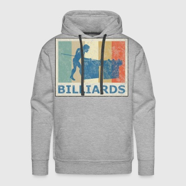 Retro Vintage Style Pool Billiard Player Snooker - Men's Premium Hoodie