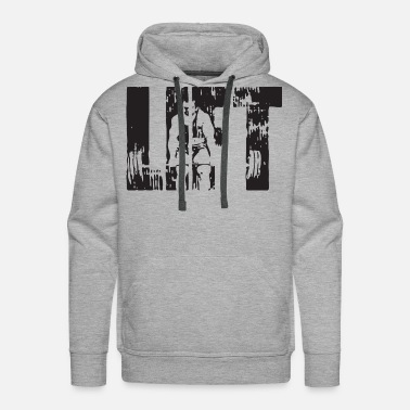 Weight-lifting LIFT - Deadlift - Men's Premium Hoodie