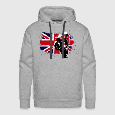 MotoGP - Superbike - UK Flag - Men's Premium Hoodie