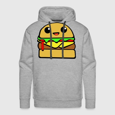 Kawaii Cheeseburger - Men's Premium Hoodie