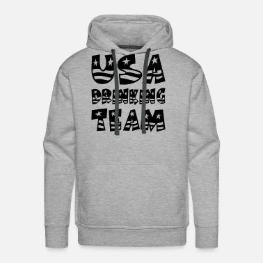 Team Usa USA DRINKING TEAM - Men's Premium Hoodie