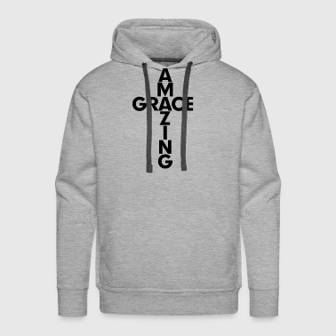 Amazing Grace Cross Christian - Men's Premium Hoodie