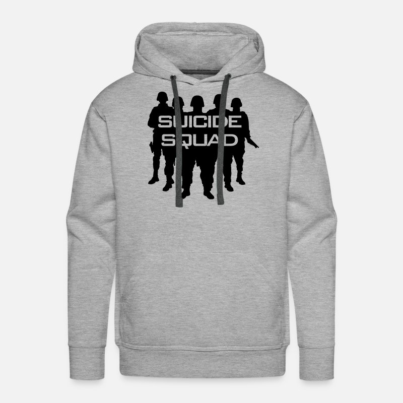 Army Hoodies & Sweatshirts - Suicide Squad - Men's Premium Hoodie heather gray