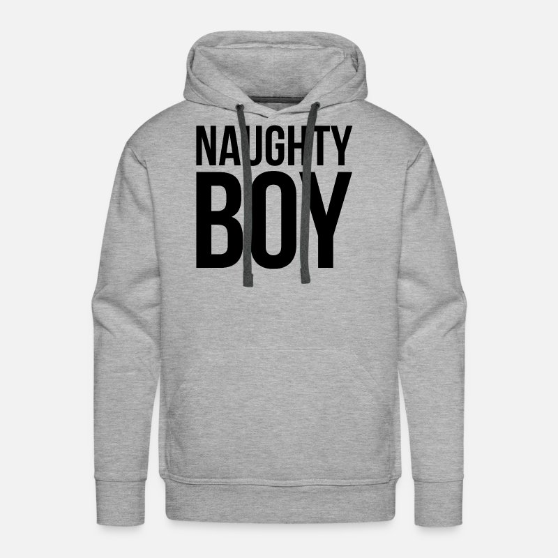 Adult Hoodies & Sweatshirts - NAUGHTY BOY - Men's Premium Hoodie heather gray
