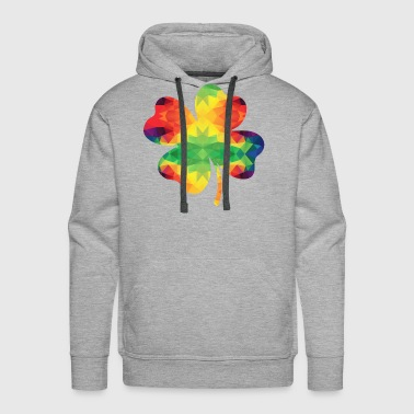 Colorful Shamrock - Men's Premium Hoodie