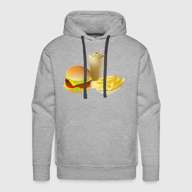Currywurst french fries pommes frites fastfood fast food3 - Men's Premium Hoodie