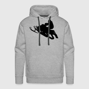 Snowmobile Winter Sports Snow - Men's Premium Hoodie