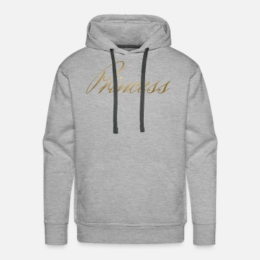 Gold Princess 2 child cool gift idea funny - Men's Premium Hoodie