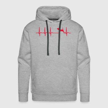 Heartbeat Beagle Owner Dad Mom Paw Cool Funny Gift - Men's Premium Hoodie