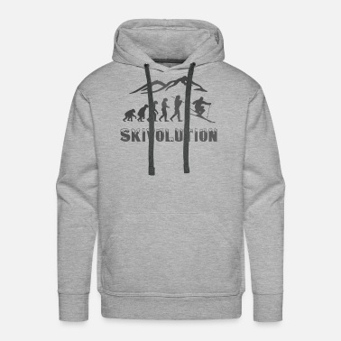 Skiing Ski evolution skier snow sport cool - Men's Premium Hoodie