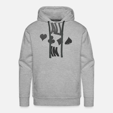 Las Vegas Poker ALL IN Karten Pik Texas Holdem - Men's Premium Hoodie